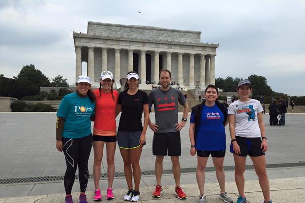 Running around the monuments