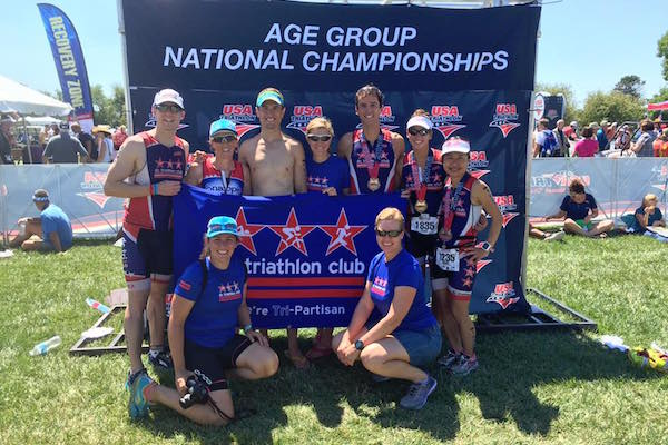 Club athletes at Age Group Nationals in Omaha, NE 2016