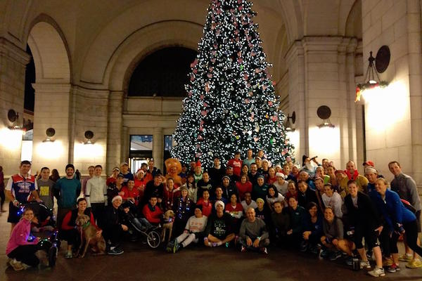 Our annual holiday lights fun run