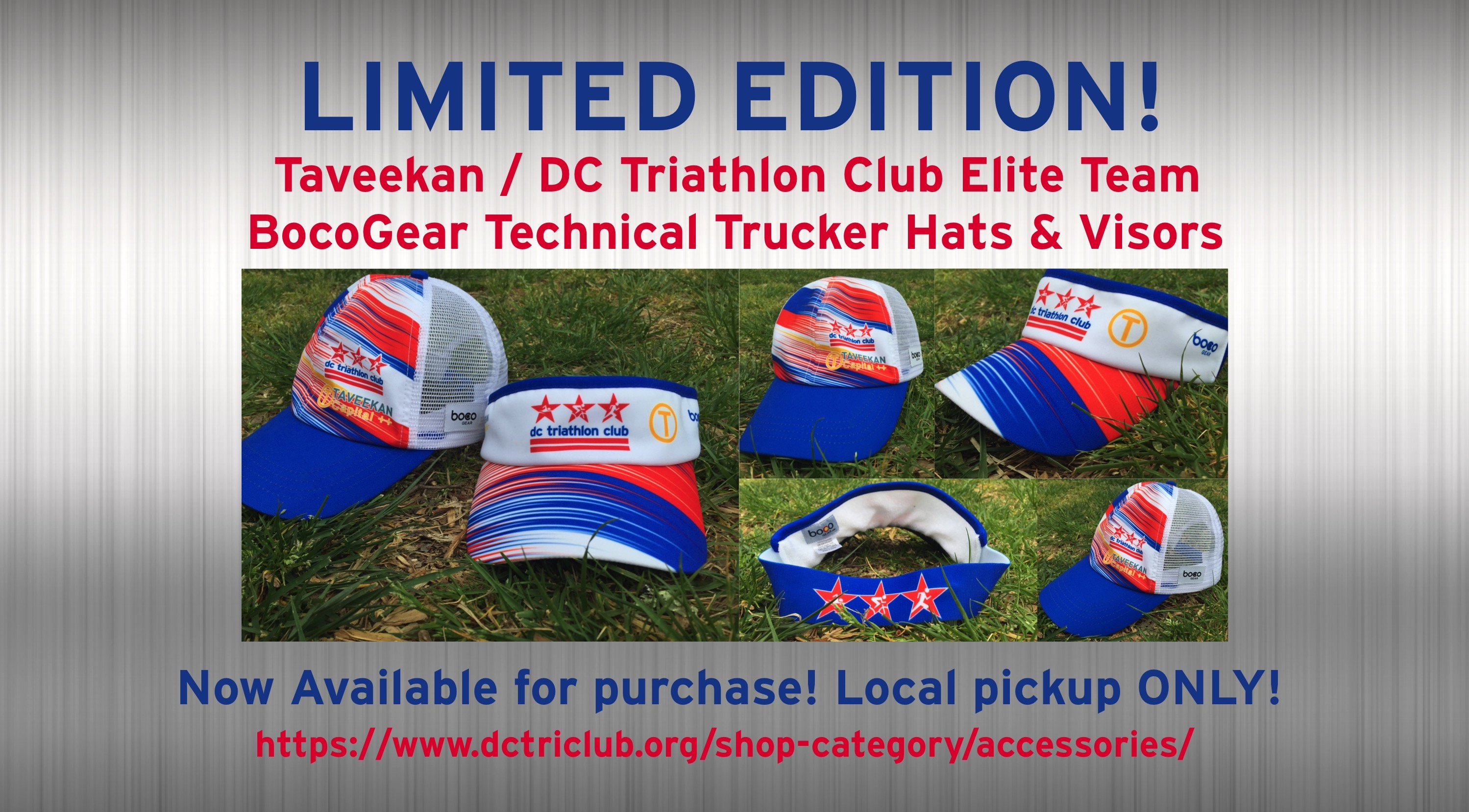DCTri Boco Visors and Tech Trucker Hats