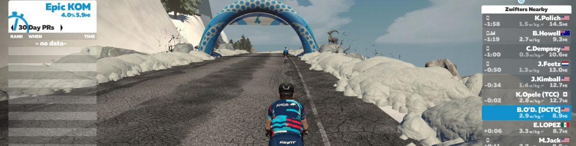 Brian O'Donnell on Zwift